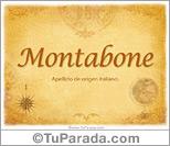 Origen y significado de Montabone