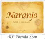 Origen y significado de Naranjo