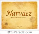 Origen y significado de Narváez