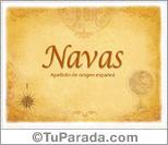 Origen y significado de Navas