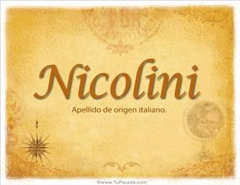 Origen y significado de Nicolini