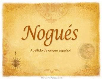 Origen y significado de Nogués
