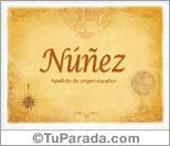 Origen y significado de Núñez