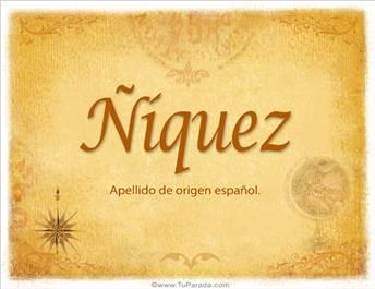 Origen y significado de Ñíquez