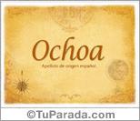 Origen y significado de Ochoa