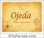 Origen y significado de Ojeda
