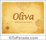 Origen y significado de Oliva
