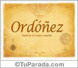 Origen y significado de Ordóñez