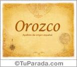 Origen y significado de Orozco