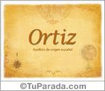 Origen y significado de Ortiz