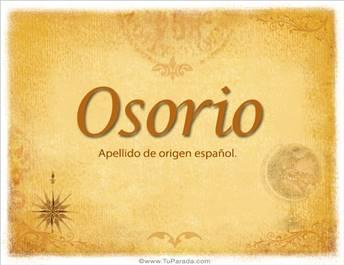 Origen y significado de Osorio
