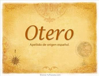 Origen y significado de Otero