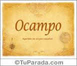 Origen y significado de Ocampo