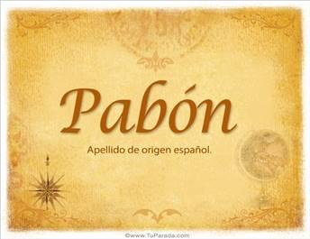 Origen y significado de Pabón