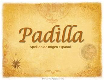 Origen y significado de Padilla