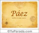 Origen y significado de Páez