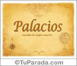 Origen y significado de Palacios