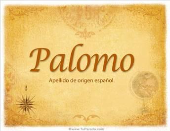 Origen y significado de Palomo