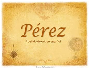 Origen y significado de Pérez