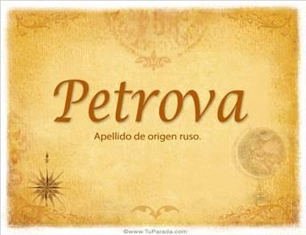Origen y significado de Petrova