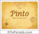 Origen y significado de Pinto