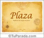 Origen y significado de Plaza