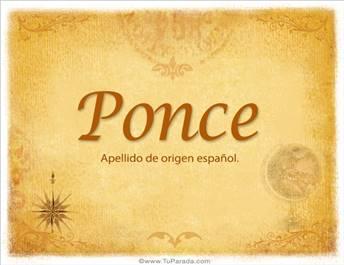 Origen y significado de Ponce