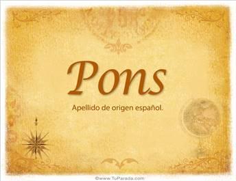 Origen y significado de Pons