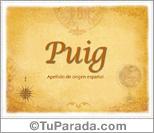 Origen y significado de Puig