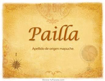 Origen y significado de Pailla