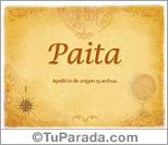 Origen y significado de Paita