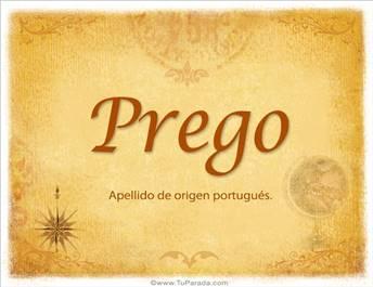 Origen y significado de Prego