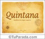 Origen y significado de Quintana