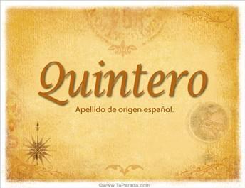 Origen y significado de Quintero