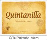 Origen y significado de Quintanilla