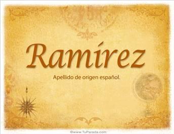 Origen y significado de Ramírez