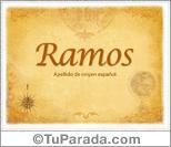 Origen y significado de Ramos