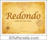 Origen y significado de Redondo