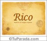 Origen y significado de Rico