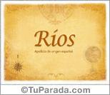 Origen y significado de Ríos