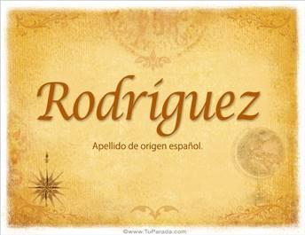 Origen y significado de Rodríguez