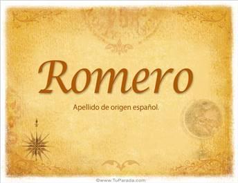 Origen y significado de Romero