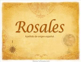 Origen y significado de Rosales