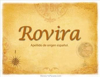 Origen y significado de Rovira