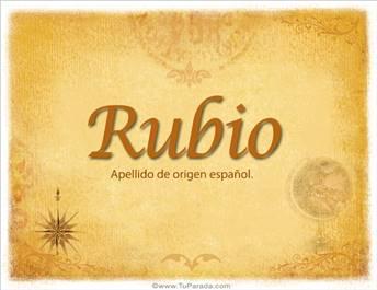 Origen y significado de Rubio