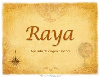Origen y significado de Raya