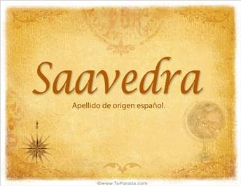Origen y significado de Saavedra