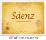 Origen y significado de Sáenz
