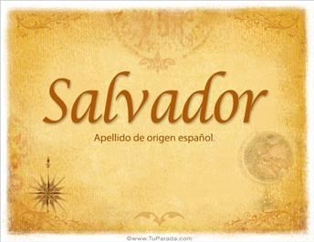 Origen y significado de Salvador