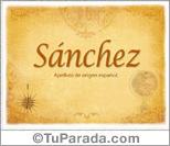 Origen y significado de Sánchez